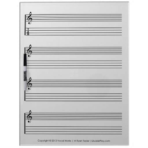 ukulele tablature white board